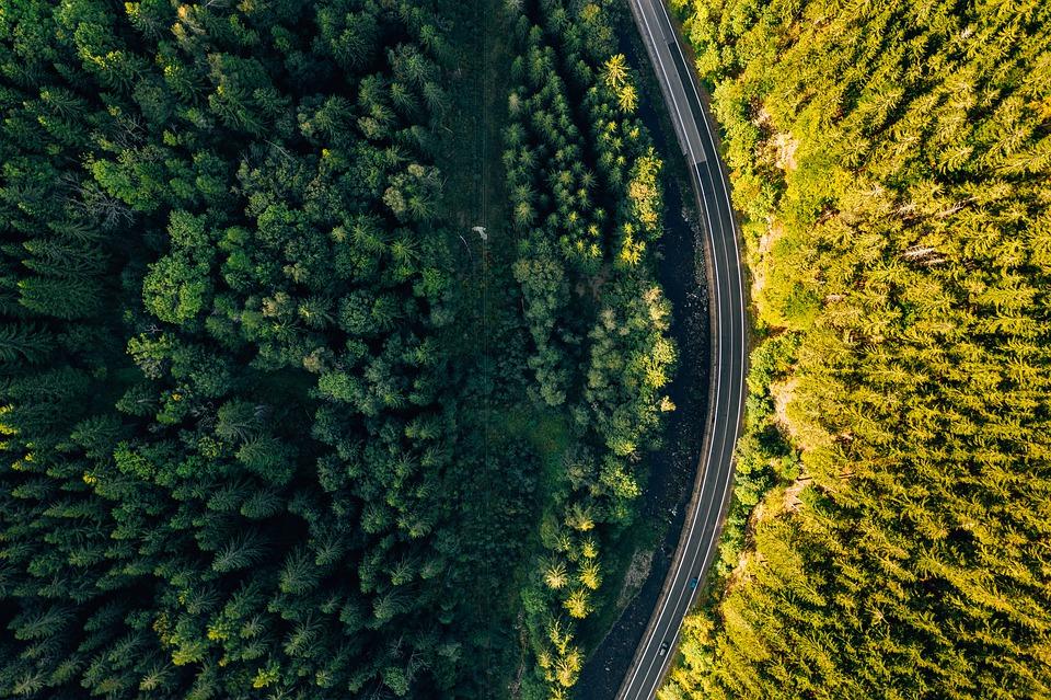 photo d'une vue aerienne prise par dronee
